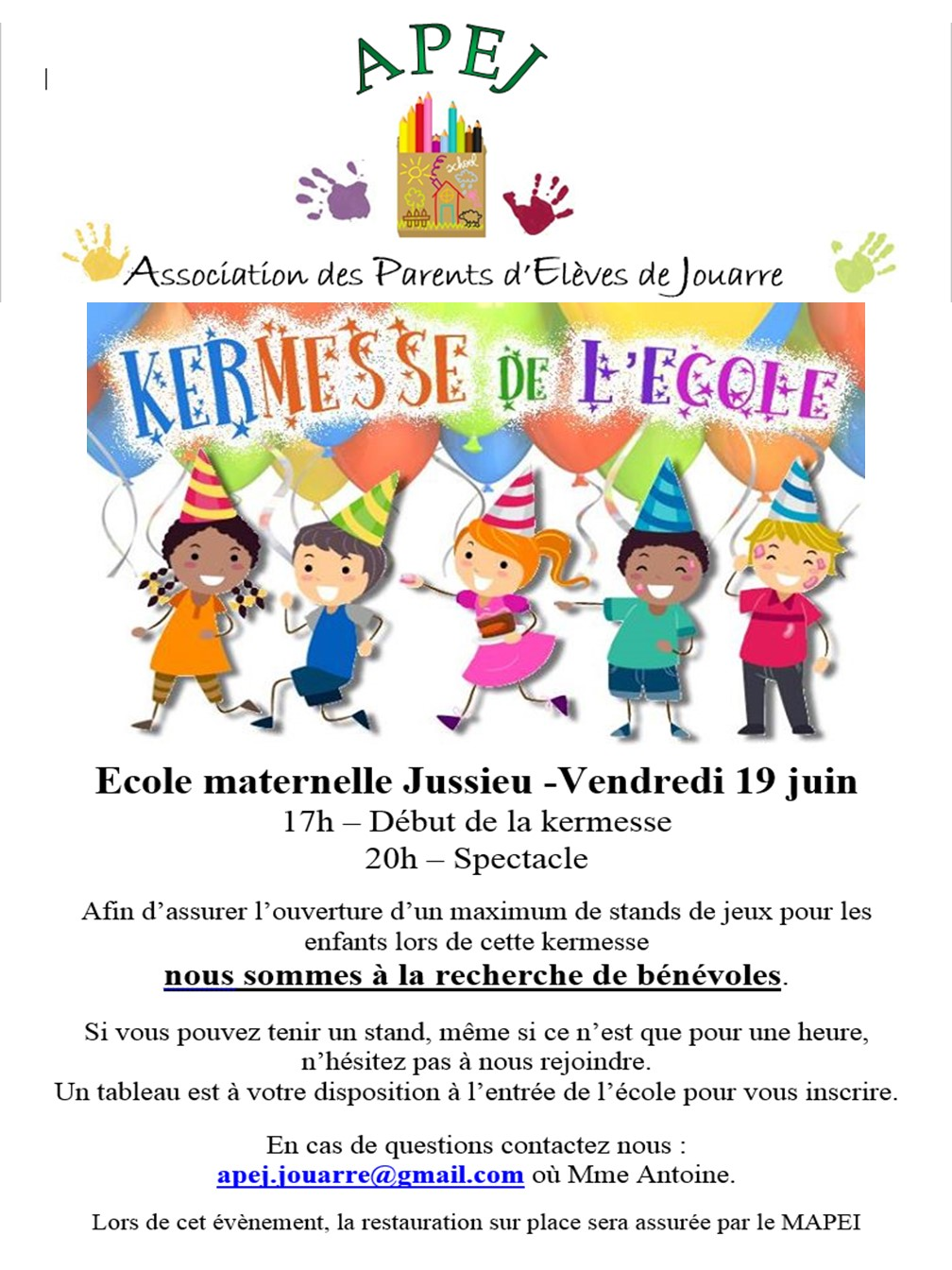 Exceptionnel APEJ – Association des Parents d'Elèves de Jouarre » 8. KERMESSES IC55
